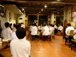 週六晚上的文課;討論、心得分享、老師講評