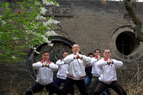 前:吳萬壽,吳老師,羅華權於山西太原三清觀